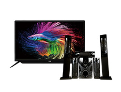 "Home-Theater 5.1 + 32"" HD LED TV"