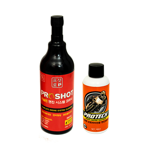 Protech Mortor Bike Engine Coating + Protech Petrol Injector Cleaner
