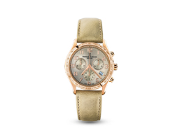 Iris Chronograph Watch - Rose Gold